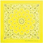 Carolina Manuf Neon Yellow Paisley Bandana - Recreational Use/Scarf