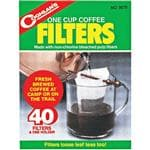 Coghlans Coghlan's One Cup Coffee Filters 40 Pack - Fresh Brewed At Camp Or On The Trail