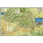 Franko Maps Fade Resistant Durable Waterproof Synthetic Santa Ana Mtns & Chino Hills