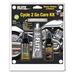 Flitz Cycle 2 Go Care Kit - Quick High Gloss, Removes Grease & Oil, Absorbant, Soft Cloth