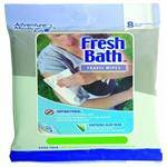 ADVENTURE MEDICAL Freshbath Adventure Bath Wipes - Bio-Degradable Wipes That Provide Antibacterial