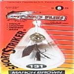 generic Joe's Flies Short Striker March Brown Fish Hook Size 8 - Walleye/Panfish/Bass