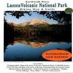 Earthwalk Press Lassen Volcanic National Park Hiking Map & Guide - Topographical Map On One Side