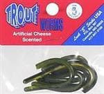 Luck-E-Strike Lures Artificial Cheese Scented Trout Worm Lures