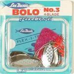 """JENSEN Luhr Jensen Nickel/Red Center Bolo Troll 27"""" - No Line-Twist Action & Flexible"""