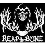 Lve Hunting Decals LVE Reaper Skull Decal - White Decal w/The Grim Reaper Hold, USA Made