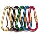 generic Multi Link Medium Anodized Aluminum Biner - Brass Closures For Secure Connection