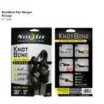 NITE-IZE Foliage Knot Bone Flat Bungee - Wrap & Lock Motion - Kbbf-03-26