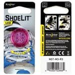Nite Ize Pink Shoelit - Water-Resistant Casing Backed, Easy To Activate