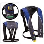 Onyx Outdoor Onyx Blue M 24 In-Sight Manual Inflatable Life Jacket - Durable Ripstop Fabric