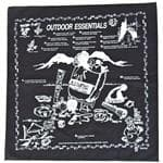 TC SPAN OUTDOOR ESSENTIAL BANDANA - Learn About Essentials For Outdoor Safety, Survival