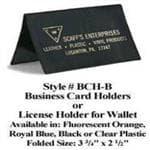 generic Scaff's Fluorescent Orange Lic Holder Fold Over - Plastic Billfold Card Holder/etc