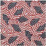 Carolina Manuf TOSSED AMERICAN FLAG/BANDANA - USA Made, Motorcycle/Biker/Recreational Use