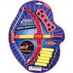 Toysmith Bow Shotz - Air-Powered Fun Use the 11.5'' Bow To Launch The 2.75''