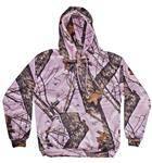 Yukon Gear Pink Camouflage Women's Hunting Performance Fleece Hoodie