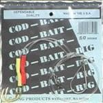 Zing Cod Bait Rig Size 2 Pack 5/0 Hooks - Dependable Qualty, USA Made, etc